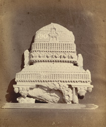 Buddhist sculpture fragment of a roof from a sculptured chapel, Peshawar District.